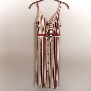 Love Tree Midi Striped Dress